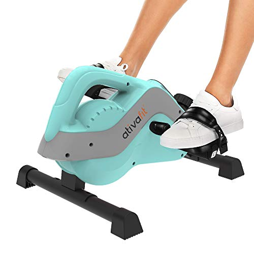 ATIVAFIT Mini Exercise Bike Magnetic Mini Cycle Pedal Exerciser Office Home Under Desk Bike with LCD Display for Leg/Arm