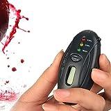 YYSDH Alcoholimetro Breathalyzer Digital Alkohol Tester Mit LCD Zeitschaltuhr Mini-Taschenlampe LED Schlüsselanhänger Parkplatz Gadgets Digitale