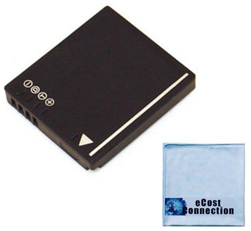 ecost memory cards DMW-BCF10 Li-Ion Rechargeable Camera Battery for Panasonic Lumix DMC-TS3, DMC-TS4, DMC-F2K, DMC-F2P, DMC-F2S, DMC-FP8S, DMC-FP8K, DMC-FP8R, DMC-FH1A, DMC-FH1K, DMC-FH1P Camera &More + Microfiber Cloth   CGA-S/106B   BCF10