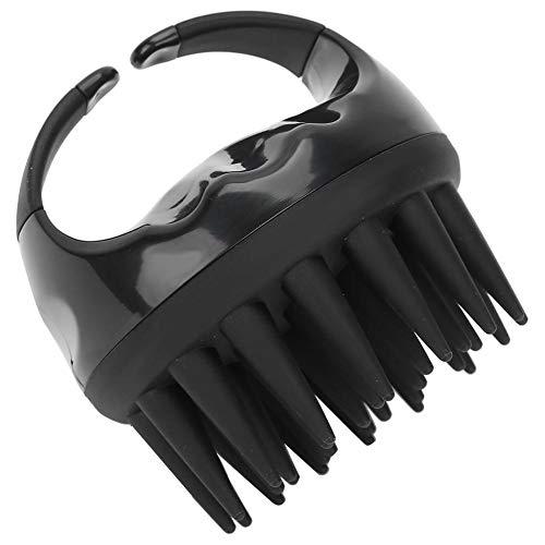 Masseur de cuir chevelu de brosse de shampooing de main pour tous les types de cheveux, peigne de massage de cuir chevelu d'épurateur de tête pour le lavage de nettoyage de cheveux(Noir)