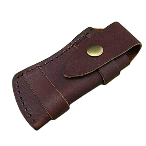 Dreamworldeu 100% Echt Leder-Etui für Taschenmesser Faltender Taschenmesser Beutel