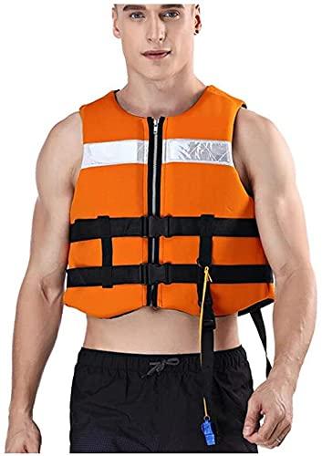 Bktmen Chaleco Salvavidas Chaleco de Alta flotabilidad Chaleco Salvavidas Chalecos de natación para Adultos y niños Rafting Pesca, Tamaño Ajustable Equipo de natación de mar Transpirable (Size : XL)