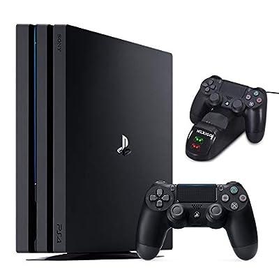 NexiGo 2020 Playstation 4 PS4 Pro 1TB Gaming Console Holiday Bundle, 4K HDR PS4 System, 1TB Hard Drive Charging Station Dock Bundle