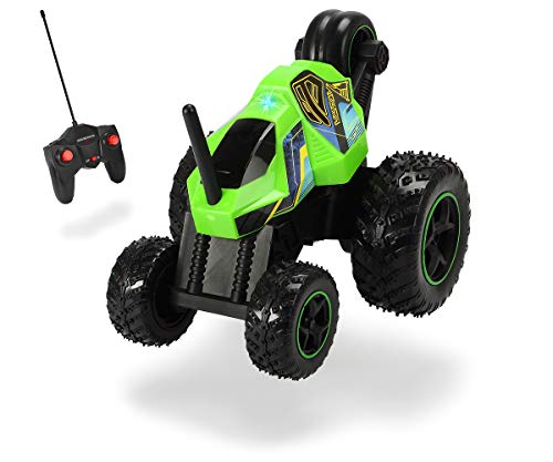 Dickie Toys 201119140 RC Mad Tumbler, RTR 201119140-RC, Ferngesteuertes Fahrzeug mit Rotations-und Spinfunktion, 1:16, 21 cm, 8 km/h, neongrün