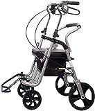 Z-SEAT Andador con Andador, Ayuda para Caminar con Ruedas médicas, Andador de Aluminio superligero, Andador con Andador portátil de Movilidad con Andador de 4 Ruedas para p
