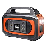 X-DRAGON Portable Power Station 500W ,444Wh/120000mAh Portable Power Supply,110V Camping Generator Lithium Battery Power Supply with Pure Sine Wave AC Outlet,Solar Generator for Outdoors Camping Travel RV Emergency