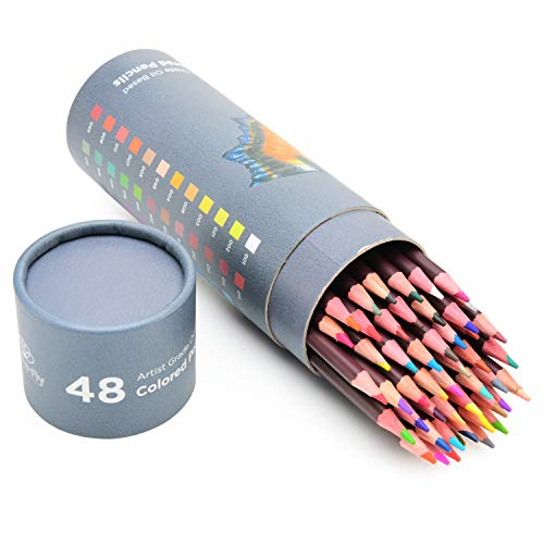 48 Matite Colorate Professionali per Artisti – Matite ad Olio Incluso Matite Color Pelle Set Matite Colorate da Disegno Matite per Ritratti, Colorare e Schizzi