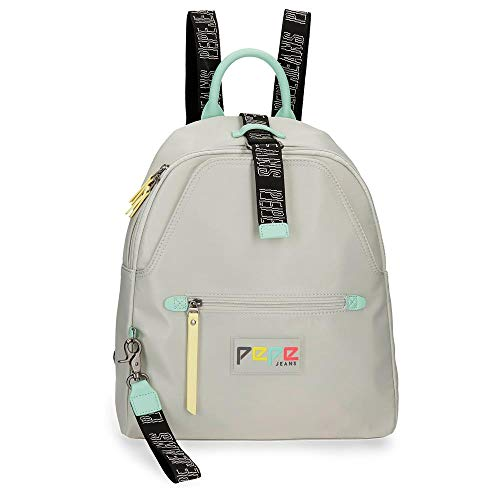 Pepe Jeans Mind Mochila adaptable, color Beige