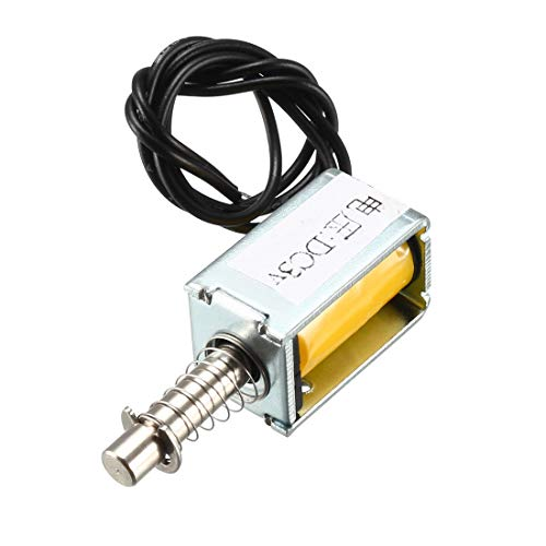12V High Efficiency 6//12//24V Automation Control DC Electromagnet 300mA Pull Electromagnet 5N Retractable Range 10mm Electromagnet for Industrial Automation Control Equipment