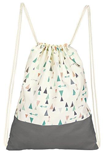 moses. Rucksack Ethno, Faltbarer Backpack, umweltfreundlich, wiederverwendbar Turnbeutel, 42 cm, Mehrfarbig