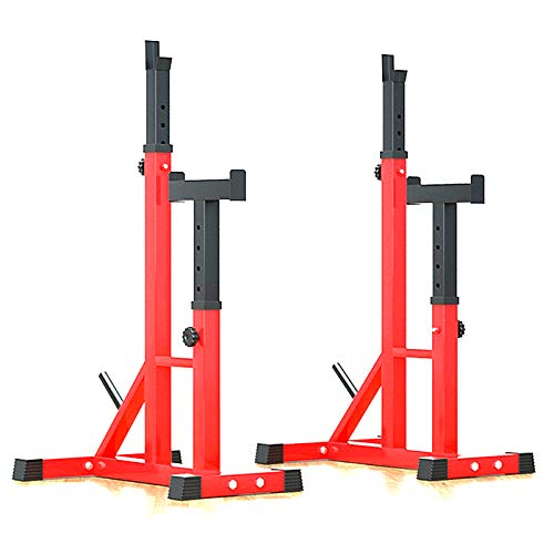 NENGGE Barbell Rack Bench Press Heavy Duty Squat Rack Cage Multifunction Squat Stand and Spotter Home Gym Weight Lifting Dip Station Fitness Training Machines, 250kg Max Load