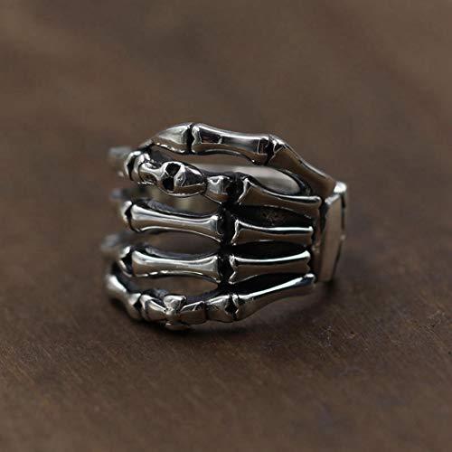YOYOYAYA Ring S 925 Sterling Silber Schmuck Hand Skelett Retro Classic Partei Frau Paar Delikatesse Fashion Einfachheit Geburtstag Gedenken Geschenk, Nummer 18.