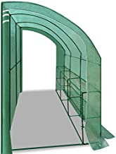 Strong Camel Outdoor Large Walk-in Wall Greenhouse Portable Waterproof Hot House 10x5x7'H w 3 Tiers/6 Shelves Gardening (Green(2 Door))