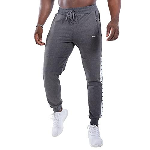 SMILODOX Herren Jogginghose Limited   Trainingshose für Sport Fitness Gym Training & Freizeit   Sporthose - Jogger Pants - Sweatpants Hosen - Freizeithose Lang, Größe:XXL, Farbe:Anthrazit