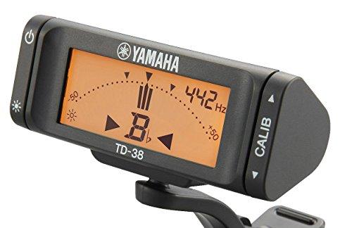 ヤマハYAMAHAクリップオンチューナーTD-38L超小型・軽量のクリップオンチューナーシンプルで見やすい表示とわかりやすい操作性表示画面の向きを自由に調節可能