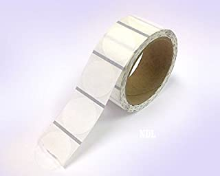 Clear Retail Package Seals, Round Circle Wafer Stickers, 500 Per Roll (2