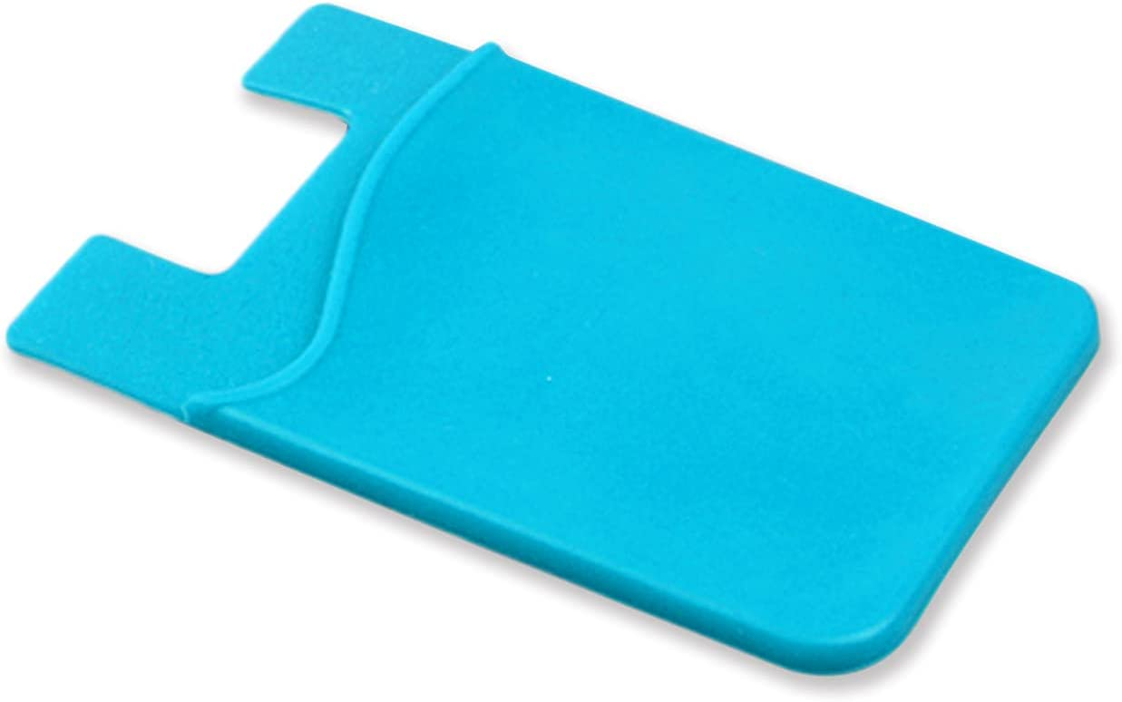 Phone Card Holder,Self Adhesive Credit Card Wallet,Silicone PhoneWallet,Phone Wallet Stick on,Card Holder for Phone Case,Compatible with Phone Android Smartphones (Blue)