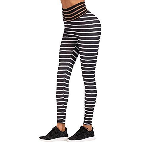 AHUIOPL Yoga Broek Vrouwen Elastische Taille Broek Polyester Print Workout Leggings Fitness Sport Hardlopen Yoga Atletische Broek