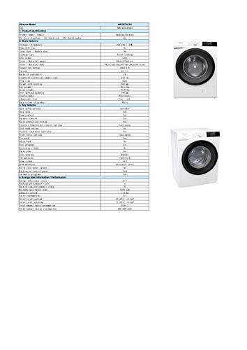 Hisense WFGE7012V Lavadora Freestanding de carga frontal, capacidad 7 kg, 2000 W, 1200 rpm, blanco, 60 x 54,5 x 85 cm