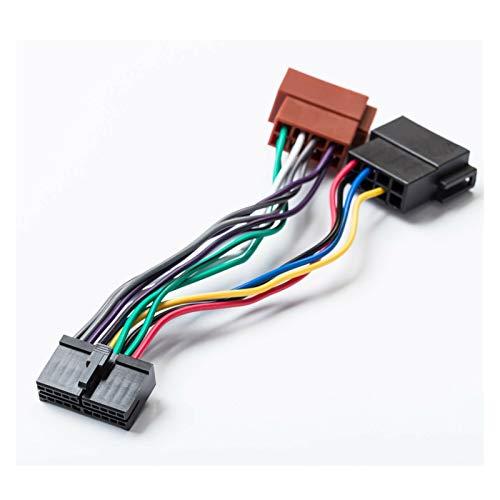 ZXC Car Stereo Radio ISO Adaptador de 20 Pines Conector de Cable Universal DIN en Forma for AEG Coche prology Autoradio Audiovox JGC Etc