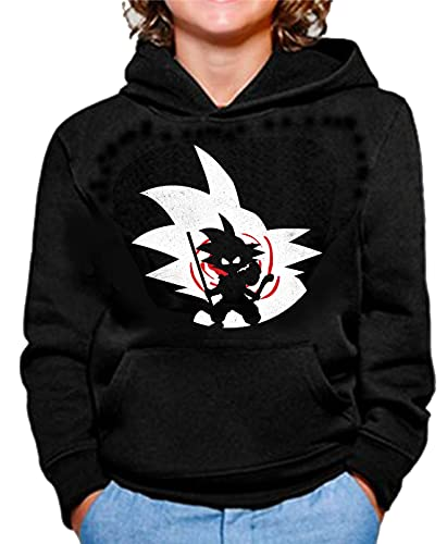 The Fan Tee Sudadera de NIÑOS Dragon Ball Goku Bola de Dragon Z Super Vegeta 185 3-4 Años