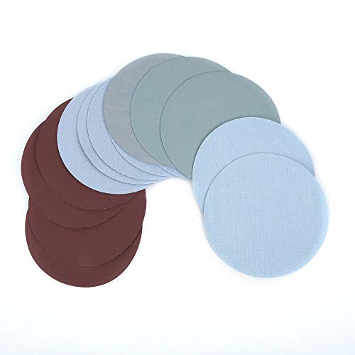 MOLINB Schuurpapier 30st 125mm Grit1000 / 1500/2000/3000/5000/7000 Slijpschijven Lamellenschijven Haakse slijper Schuurschijven Kunststof Hout Schuurgereedschap