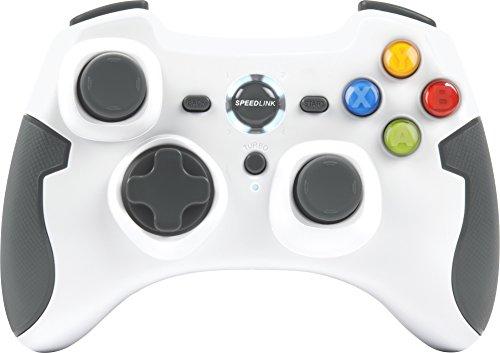Preisvergleich Produktbild Speedlink Torid kabelloses Gamepad für PC / PS3 (bis zu 10 Stunden Spielzeit,  X-Input und Direct-Input,  Vibrationsfunktion,  Schnellfeuerfunktion) weiß