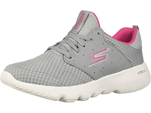 Skechers Women's GO Run FOCUS-15162 Sneaker, Gray/Pink, 9.5 M US