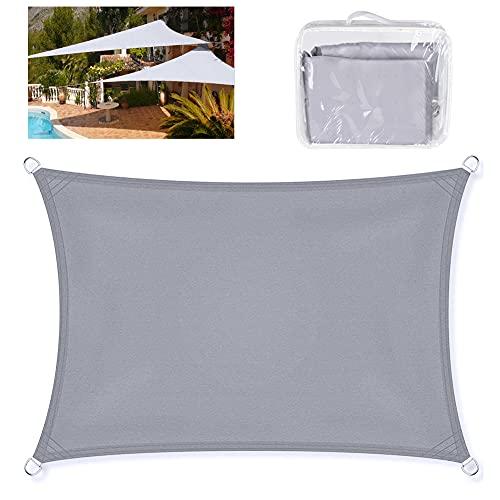 Tenda a Vela Rettangolare,3 x4 m Tende Da Sole Impermeabile Balcone Giardino Protezione 95% UV Kit di Fissaggio,Corde Di Fissaggio, Parasole Ombreggiante Per Esterni, Patio, Giardino, Terrazza