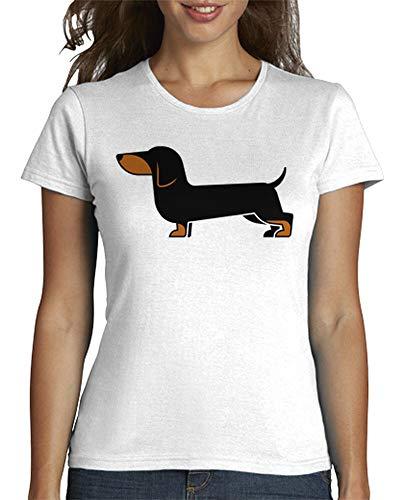 latostadora - Camiseta Teckel para Mujer Blanco S