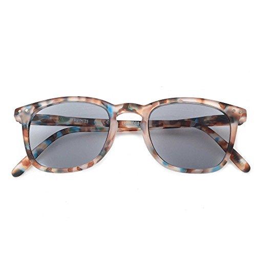 Doiy Sun LetmeSee #E Blue Tortoise Soft Grey Lenses +2,