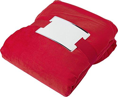 Manta de Forro Polar Gruesa para sofá o Cama, sofá (1,75 x 1,22 cm) (Rojo)
