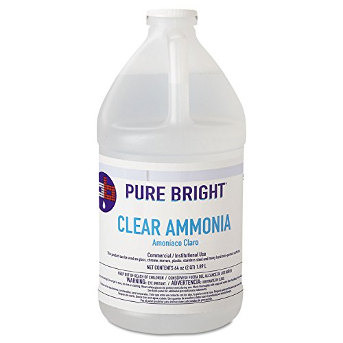 Pure Bright 19703575033 Clear Ammonia, 64oz Bottle, 8/Carton