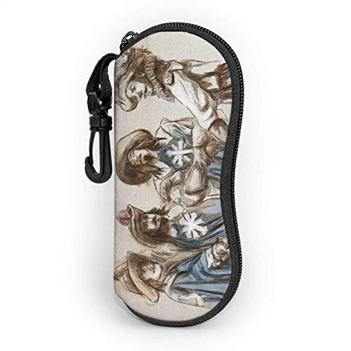 Sonnenbrille Brillenetui Jazz Tasche Kratzfest staubsichere Brillenbox mit Gürtelclip für Schlüssel, Bleistifte, Karten