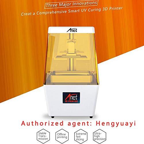 Imprimante 3D LCD photopolymérisable Jaune, Imprimante 3D en résine SLA avec écran Tactile Couleur de 3,5 Pouces, Impression Hors Ligne Volume de création 9.05