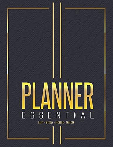 Planner: Essential. Planificador mensual 2021-2022, Agenda semanal sin fecha, Recordatorio cumpleaños, Contraseña records, Listin Telefonico, Peso, Menu, Anual Calendar 2021-2024