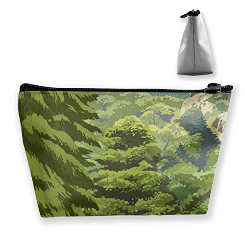Hipiyoled Great Smoky Mountains National Park Trapezoid Cosmetic Bag Storage Bag Zipper Multifunctional Accessory Wallet Travel Outdoor Shopping Coin Wallet