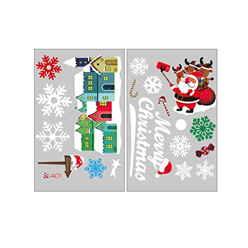 AMhomely Christmas Decorations Sale, Christmas snowflakes Creative Affixed With Decorative Wall Window Decoratio Merry Christmas Decorative Xmas Decor Ornaments Party Decor Gift
