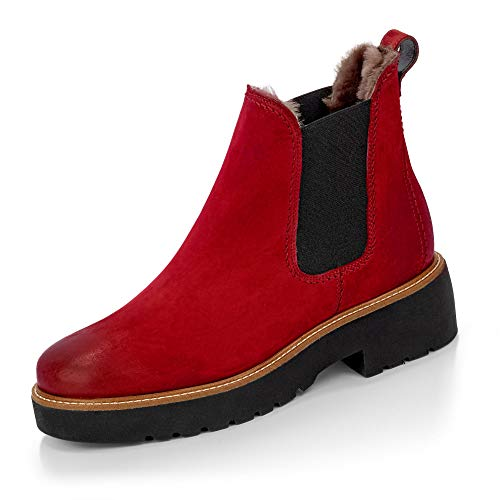Paul Green Chelsea Boots Stiefelette rot 37½