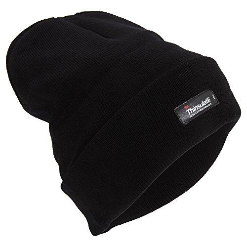 Bonnet Thermique Thinsulate - Homme (Taille Unique) (Noir)