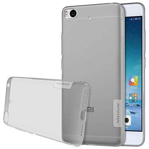 NILLKIN Nature - Funda Carcasa Protectora Trasera de Gel/TPU/Silicona Flexible Antideslizante Case Super Fina para Xiaomi Mi5s - Gris