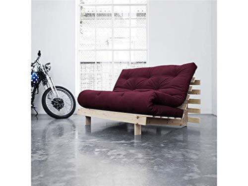 KARUP DESIGN Roots Sofa, Stoff, Bordeaux, 200 x 140 x 20 cm