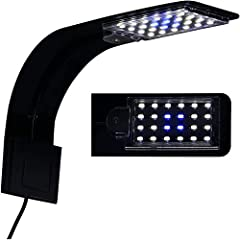 24 LED beads: 24 LED beads with high brightness and high energy efficiency Enhance colors on fish and corals, provide stunning lighting effects in the day or night. Easy and quick to installation on the tank glass wall. ABS material, sturdy and durab...
