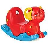 Woopie Oscillante Altalena per Bambini Dondolo da Esterno da Interno per Bambini Attrezzature da Gioco Altalena età: 3 4 5 6 Anni Rosso Blu Giallo