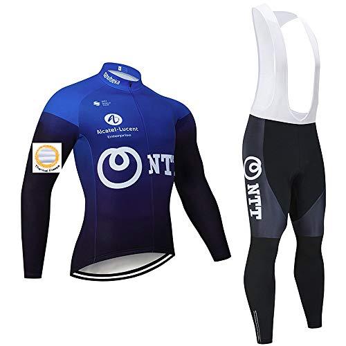 Completo Ciclismo Uomo,abbigliamento ciclismo inverno di Pantaloni con Bretelle da Ciclismo Invernali per Mountain Corsa e Outdoor