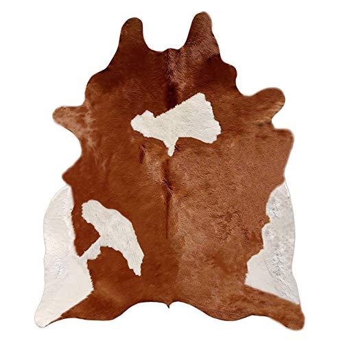 A-STAR(TM) Western Brown & White Cowhide Rug - Best Cow Hides Area Rug (6 x 6)