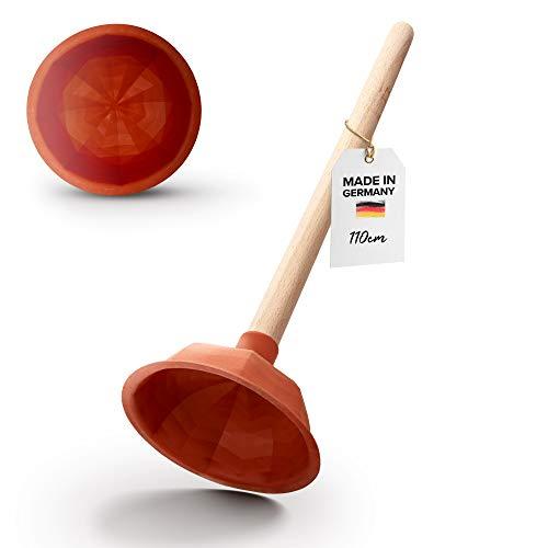 Abrush Pömpel für Waschbecken, Dusche & Küche | 110 mm Abflussreiniger (Made in Germany) | Universal-Saugglocke für jeden Abfluss | Ausgussreiniger Pümpel aus Gummi | Abflussreiniger Pumpe