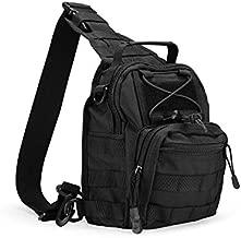 ProCase Tactical Sling Bag with Pistol Holster, Military Outdoor Range Backpack -Black