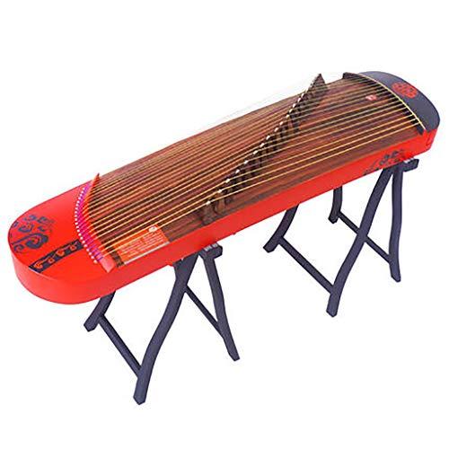 N /A Guzheng, 128cm, 21-String Guzheng, Handgemalte Muster, mit einem vollen Satz von Zubehör, Geeignet for Anfänger, Profi-Leistung (Color : Red)