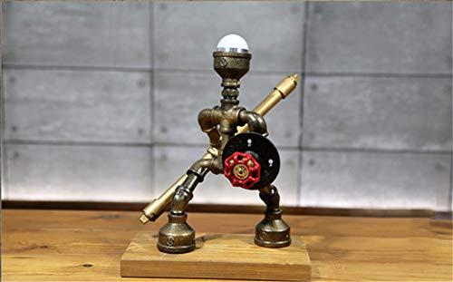 XZYP Industrieller Steampunk LED-Schreibtischlampe, Industrie Kreative Tischlampe Wind Klempner Samurai Roboter Lampe Am Bett Schlafzimmer Dekorative Lampe,Justice